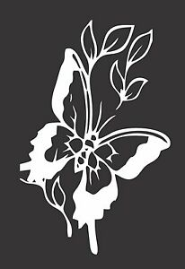 Flower Butterfly 540 Die Cut Vinyl Window Decal Sticker For Car Truck