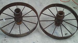Pair Of Steel Wagon Wheels 29