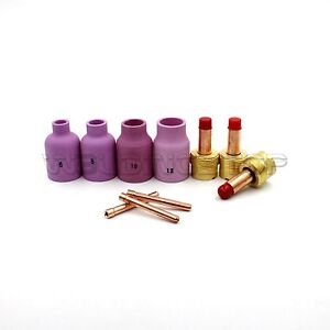Tig Welding Gas Lens Collet Nozzle 53n87 53n88 Consumables For Wp17 18 26 Pk10