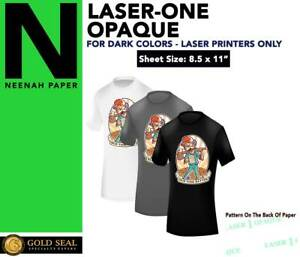 Laser 1 Opaque Dark Shirt Heat Press Machine Transfer Paper 8 5 X 11 75 Sheets