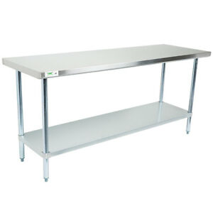 Regency 30 X 72 Stainless Steel Work Prep Table Commercial Restaurant 18 Gauge