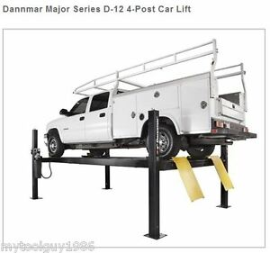 Dannmar D 12 4 post Car Lift 12 000 Lbs Heavy Duty Lift