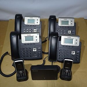 Yealink Phone System 4 T21p E2 Phones 1 W52p Base 2 Portable Handsets