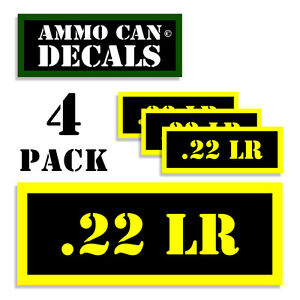 22 LR Ammo Can 4x Labels for Ammunition Case 3