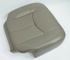 2003 2004 005 06 Gmc Yukon Front Driver Bottom Synthetic Leather Seat Cover Gray
