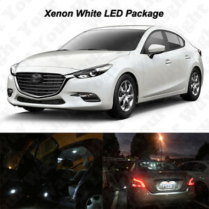 10 X White Led Interior Bulbs Reverse Tag Lights For 2017 2018 Mazda 3 Sedan