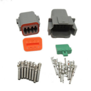 10set 8pin Waterproof Electrical Wire Connector Plug22 16awg Dt04 8p And Dt06 8s