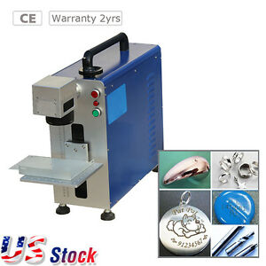 110v Upgrade Portable 20w Fiber Laser Marking And Engraving Machine ratory Axis
