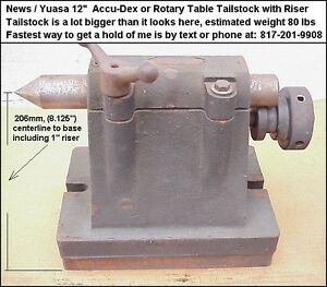 News Yuasa 12 Accu dex Tailstock Or 12 Rotary Table Tailstock Heavy Duty