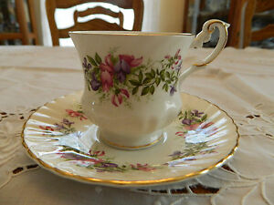 Rosina Fine Bone China Wildflowers Teacup And Saucer 1 2