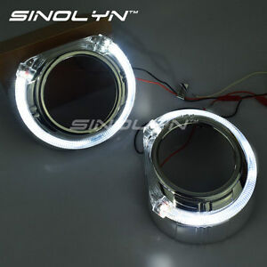 Led Angel Eyes Halo Drl Bezel Shrouds Smax For 3 0 Bi Xenon Projector Lens