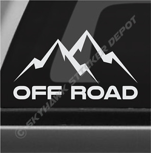 Off Road Mountain Sticker Vinyl Decal 4x4 Rock Crawler Truck Suv Fits Jeep Ford
