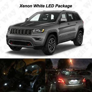 18x White Led Interior Bulbs Reverse Tag Lights For 2011 2017 Grand Cherokee