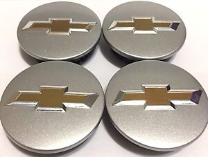 4 Pcs Wheel Emblem Center Hub Caps Chevy Sparkly Silver 59mm 9594156