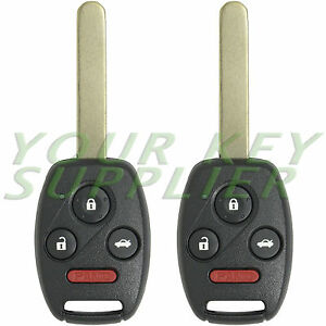 2 New Replacement Honda Accord Sedan Remote Keyless Key Fobs For Kr55wk49308