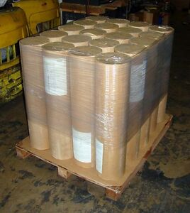 Lot Of 10 Ten Rolls Kraft Paper 40 Pound Weight 1225 Ft Lgth 36 W Natural Color