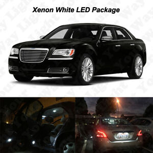 20x White Led Interior Bulbs Fog Reverse Tag Lights For 2011 2014 Chrysler 300