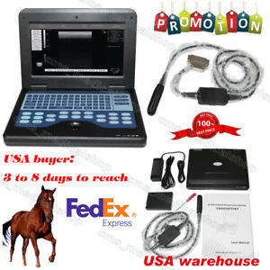 Good New Veterinary Laptop Ultrasound Scanner With 6 5mhz Rectal Probe Case