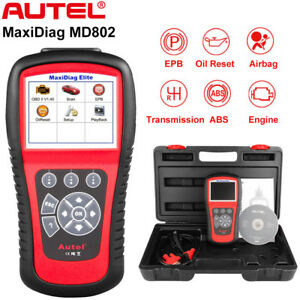 Autel Maxidiag Md802 Md805 Obd2 Diagnostic Code Reader Scanner Abs Airbag Engine
