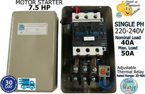 Magnetic 7 5hp Electric Motor Starter Single Phase 220 240v 30 40a On off Switch