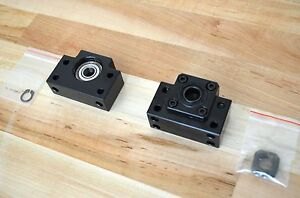 New Set Of Bk12 Bf12 Ballscrew Fixed Floated End Support Blocks 12mm Id cnc