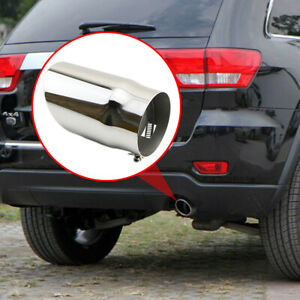 Fit For Jeep Grand Cherokee 2011 2013 Chrome Rear Exhaust Muffler Tail Pipe Tip