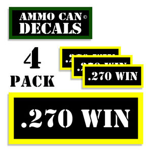 270 WIN Ammo Can Labels Ammunition Case 3