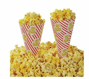 1000 pack Cone a corn Popcorn Machine Scoop Cup Cones Disposable Cups Cone Set