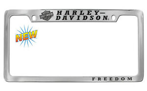 Harley davidson Freedom Chrome Plate Two Hole License Plate Frame Holder