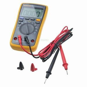 Fluke 17b Auto Range Digital Multimeter Temperature Dmm With Tl75 Test Leads