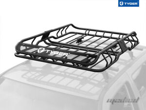 Tyger Roof Mounted Cargo Basket Luggage Carrier Rack Heavy Duty L47 xw37 xh6