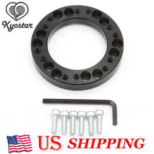 100 New Steering Wheel Spacer Hub Adapter Kit Black For Momo To Nardi Personal