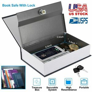 Dictionary Lock Box Diversion Book Safe With Key For Traveling Money Jewelry