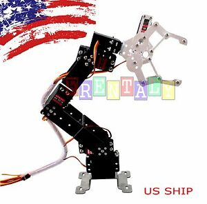 R4 6axis Fully Assembled Mechanical Robotic Arm Clamp Claw For Arduino Raspberry