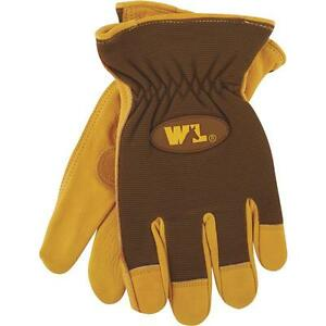 pack Of 3 Wells Lamont Men s Medium Unlined Cowhide Leather Work Glove