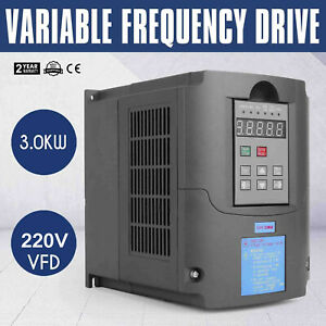 4hp 3kw Variable Frequency Drive Vfd Speed New 220v 13a Capability Inverter Vsd
