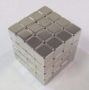 64 Pcs Block N52 Cube 375 Magnets 3 8 Super Strong 10mm Rare Earth Neodymium