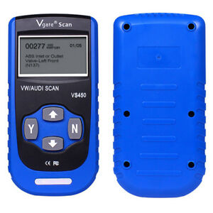 Vgate Vs450 Obdii Diagnostic Tool Abs Airbag Scanner Code Reader For Audi vw