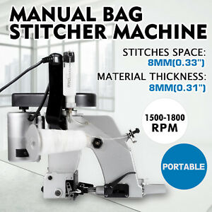 Gk 26 1a Industrial Portable Bag Closer Stitching Sewing Machine New Model