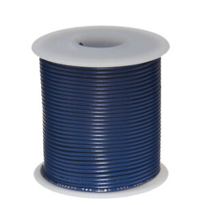 30 Awg Gauge Stranded Hook Up Wire Blue 100 Ft 0 0100 Ptfe 600 Volts