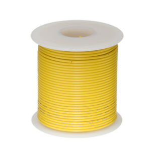 30 Awg Gauge Stranded Hook Up Wire Yellow 100 Ft 0 0100 Ptfe 600 Volts