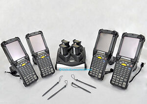 Lot Of 4x Refurb Motorola Mc9090g Mc9090 gf0hbega2ww Ce Barcode Scanner charger