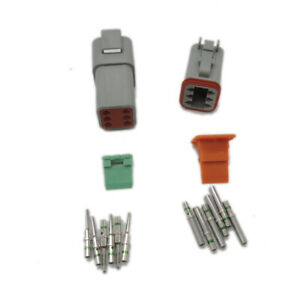 Deutsch 10pcs Dt 6 Pin Electrical Plug Connector Kit 14 Ga Solid Contacts
