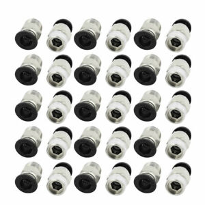 30pcs 3 8 Pt Male Thread 10mm Push In Joint Pneumatic Connector Quick Fittings