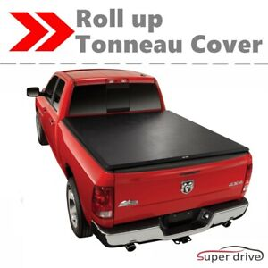 Lock Roll Up Soft Tonneau Cover For 2014 2018 Gmc Sierra 1500 5 8ft Short Bed