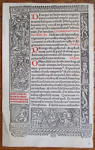 Book Of Hours Leaf Hardouin Woodcut Rare Apocalypse Hunting 1510