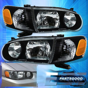 2001 2002 Toyota Corolla Jdm Black Housing Headlights Corner Turn Signal Lamps