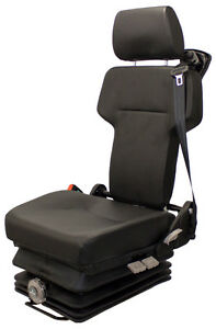 Black Vinyl Mechanical Suspension Seat For Mining Equipment Know Mounting