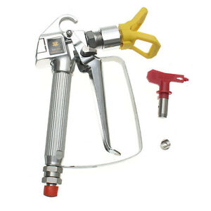 3600psi High Pressure Yellow Airless Paint Spray Gun With Red Spray Tip