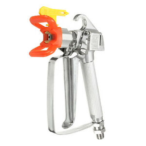 3600psi Red High Pressure Airless Paint Spray Gun With Yellow Spray Tip